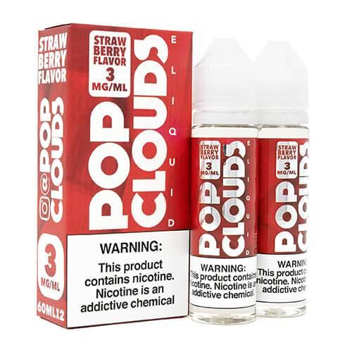 Pop Clouds E-Liquid - Strawberry - 2x60ml / 0mg