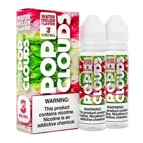 Pop Clouds E-Liquid - Watermelon - 2x60ml / 0mg