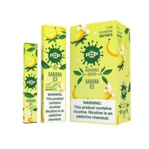 Pop Disposable (5%) - Banana Ice - Box of 10 - Banana Ice