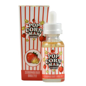 Popcorn Man E-Liquid - Strawberry Drizzle - 60ml - 60ml / 0mg