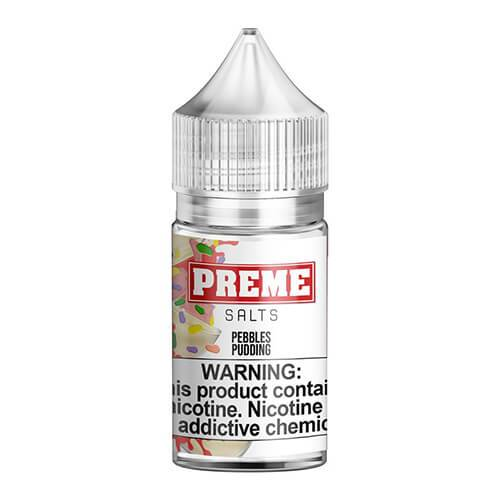 Preme eLiquids Salt Nic - Pebbles Pudding - 30ml / 25mg