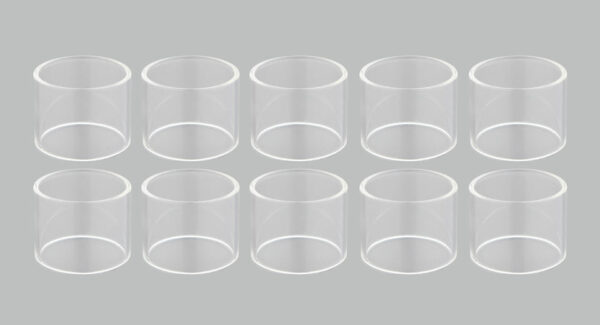 Replacement Glass Tank for GeekVape Ammit Dual Coil RTA Atomizer (10-Pack)