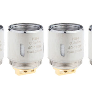Replacement HW4 Quad-Cylinder Coil Head for ELLO Mini Clearomizer (4-Pack)