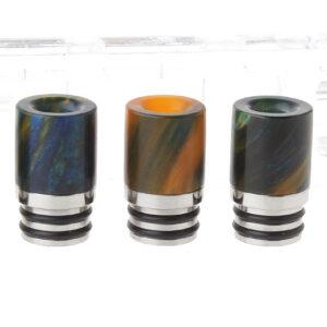 Resin + Stainless Steel Hybrid 510 Drip Tip (5-Pack)