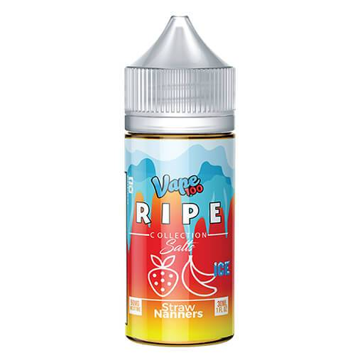 Ripe Collection on Ice by Vape 100 Nic Salts - Straw Nanners on Ice - 30ml / 35mg