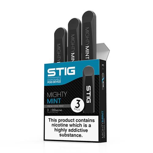 STIG - Ultra Portable and Disposable Vape Device - Mighty Mint (3 Pack) - 1.2ml / 60mg