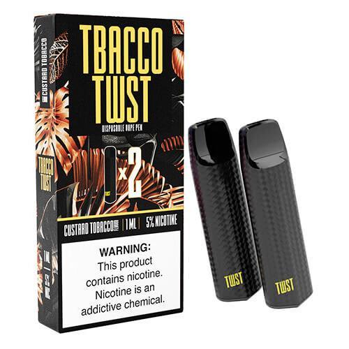 TWST - Disposable Vape Pen Twin Packs - Custard Tobacco - 1ml / 50mg
