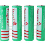 "TangsFire TRC 18650 3.7V ""3600mAh"" Rechargeable Li-Ion Batteries (4-Pack)"