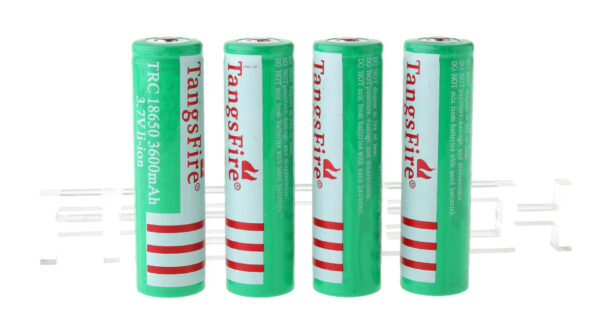 "TangsFire TRC 18650 3.7V ""3600mAh"" Rechargeable Li-Ion Batteries (4-Pack)"