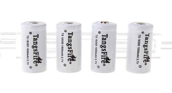 "TangsFire TS 18350 3.7V ""1500mAh"" Rechargeable Li-Ion Batteries (4-Pack)"