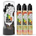The Drip Factory E-Liquid - Peachy Pipes - 90ml (3 x 30ml) / 0mg