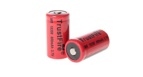 TrustFire IMR 18350 3.7V 800mAh Unprotected Rechargeable Li-ion Batteries (2-Pack)