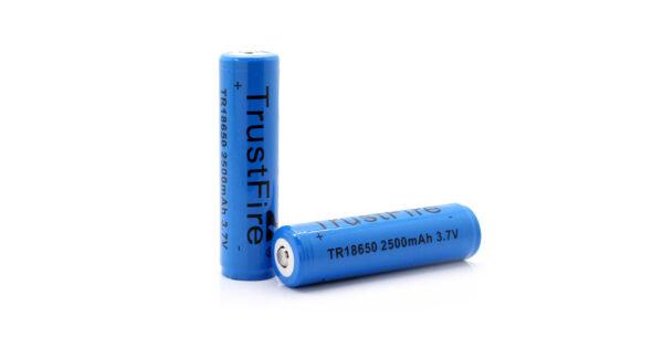 "TrustFire TR 18650 18650 3.7V ""2500mAh"" Rechargeable Li-ion Batteries (2-Pack)"