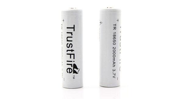 TrustFire TR 18650 3.7V 2000mAh Rechargeable Li-ion Batteries (2-Pack)