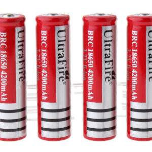 "UItraFire BRC 18650 3.7V ""4200mAh"" Rechargeable Li-Ion Batteries (4-Pack)"