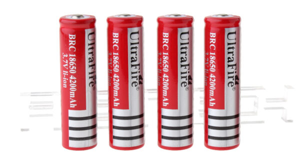 """UItraFire BRC 18650 3.7V """"4200mAh"""" Rechargeable Li-Ion Batteries (4-Pack)"""