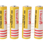 UItraFire BRC 18650 3.7V 5000mAh Rechargeable Li-Ion Batteries (4-Pack)