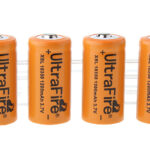 UItraFire XSL 18350 3.7V 1200mAh Rechargeable Li-ion Batteries (4-Pack)