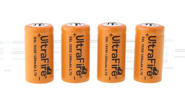 UItraFire XSL 18350 3.7V 1200mAh Rechargeable Li-ion Batteries (4-Pack)