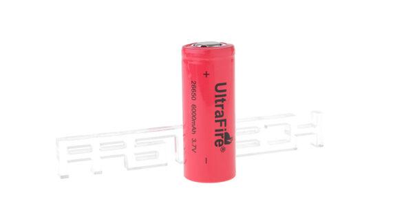 "UltraFire 26650 3.7V ""6000mAh"" Rechargeable Li-ion Batteries"