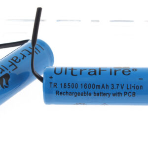 UltraFire A-01 3.7V 1600mAh Rechargeable Li-ion 18500 Batteries (2-Pack)