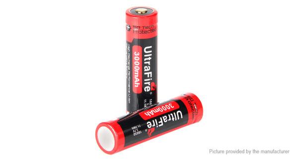 UltraFire BRC 18650 3.7V 3000mAh Rechargeable Li-ion Batteries (2-Pack)