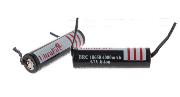 "UltraFire BRC 18650 3.7V ""4000mAh"" Rechargeable Li-Ion Batteries (2-Pack)"