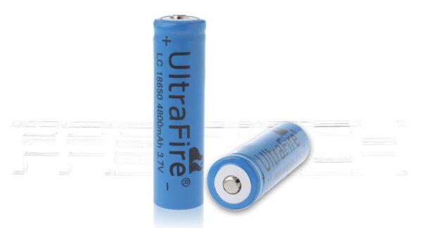 UltraFire INR 18650 3.7V 1000mAh Rechargeable Li-ion Batteries (2-Pack)