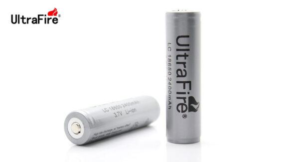 UltraFire LC 18650 2400mAh 3.7V Rechargeable Lithium Batteries (2-Pack)
