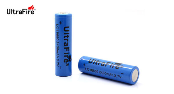 UltraFire LC 18650 3.7V 2400mAh Rechargeable Lithium Batteries (2-Pack)