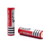 UltraFire Protected 18650 3.7V 3000mAh Lithium Batteries (2-Pack)