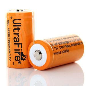 UltraFire XSL 18350 3.7V 1200mAh Rechargeable Li-ion Batteries (2-Pack)