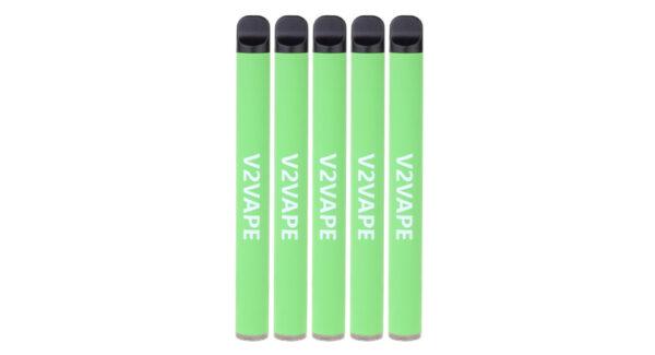 V2VAPE Rainbow Pro 650mAh Disposable E-Cigarette (5-Pack)