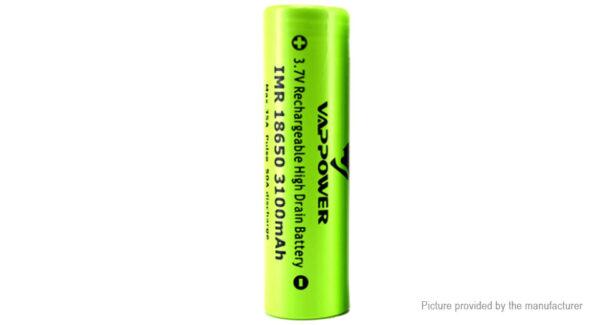 VAPPOWER IMR 18650 3.6V 3100mAh Rechargeable Li-ion Battery