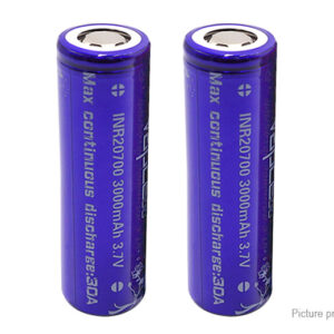 Vapcell 20700 3.7V 3000mAh Rechargeable Li-ion Battery (2-Pack)