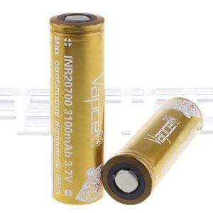 Vapcell 20700 3.7V 3100mAh Rechargeable Li-ion Battery (2-Pack)