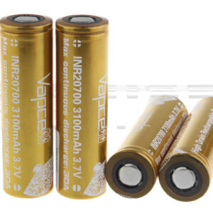Vapcell 20700 3.7V 3100mAh Rechargeable Li-ion Battery (4-Pack)
