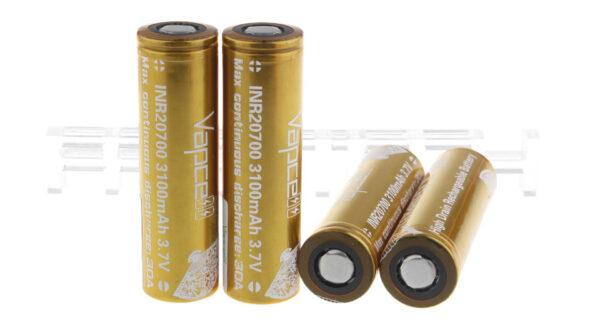 Vapcell 20700 3.7V 3100mAh Rechargeable Li-ion Battery (4-Pack)