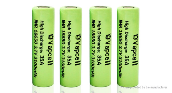Vapcell IMR 18650 3.7V 3100mAh Rechargeable Li-ion Battery (4-Pack)