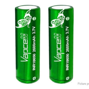 Vapcell INR 18650 3.7V 2600mAh Rechargeable Li-ion Battery (2-Pack)