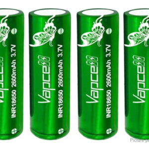 Vapcell INR 18650 3.7V 2600mAh Rechargeable Li-ion Battery (4-Pack)