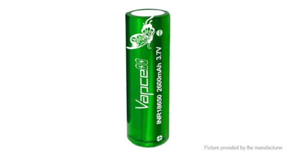 Vapcell INR 18650 3.7V 2600mAh Rechargeable Li-ion Battery