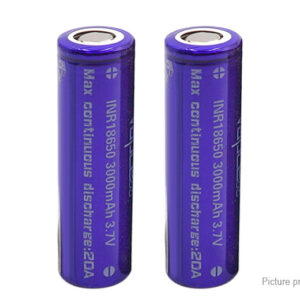 Vapcell INR 18650 3.7V 3000mAh Rechargeable Li-ion Battery (2-Pack)
