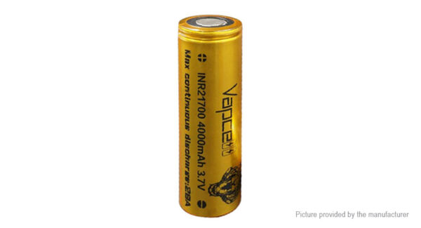 Vapcell INR 21700 3.6V 4000mAh Rechargeable Li-ion Battery