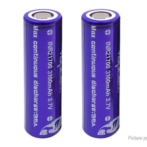 Vapcell INR 21700 3.7V 3100mAh Rechargeable Li-ion Battery (2-Pack)