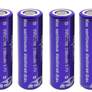 Vapcell INR 21700 3.7V 3750mAh Rechargeable Li-ion Battery (4-Pack)