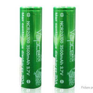 Vapcell NCR 20700 3.7V 3500mAh Rechargeable Li-ion Battery (2-Pack)