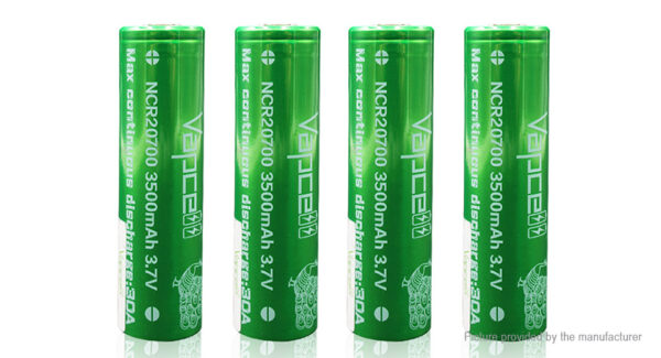Vapcell NCR 20700 3.7V 3500mAh Rechargeable Li-ion Battery (4-Pack)
