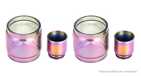 VapeSMOD Replacement Glass Tank + 810 Drip Tip for SMOK TFV12 Prince (2-Pack)