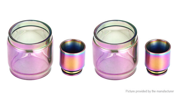 VapeSMOD Replacement Glass Tank + 810 Drip Tip for SMOK TFV8 Clearomizer (2-Pack)